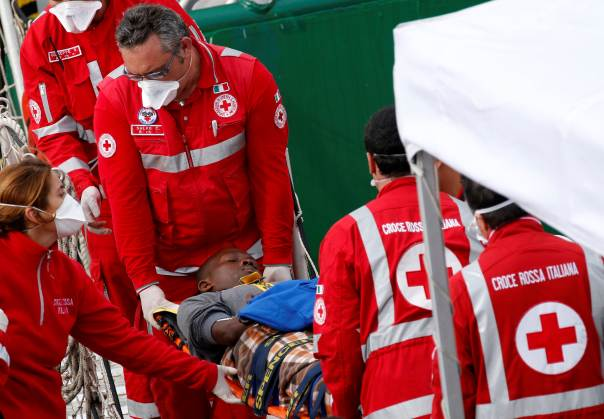 Italian Red Cross helping COVID 19 Victims